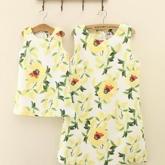 LEMON FLOWER DRESS